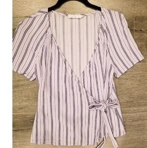 LUSH Lavender Power Sleeve Wrap Top